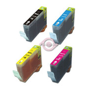 Compatible Canon BCI-6 (BCI-6BK,BCI-6C,BCI-6M,BCI-6Y) Set of 4 Ink Cartridges