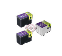 Remanufactured Epson Stylus Color 740 - Set of 3 Ink Cartridges: 2 Black and 1 Tri-Color