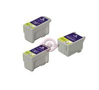 Remanufactured Epson T017201,T018201 - Set of 3 Ink Cartridges: 2 Black, 1 Color