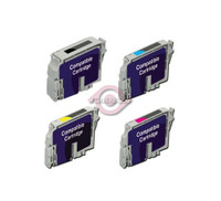 Remanufactured Epson Stylus Photo CX5400 - Set of 4 Ink Cartridges: 1 each of Black, Cyan, Yellow, Magenta