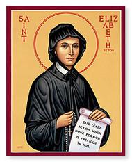 "Saint Elizabeth Ann Seton - Monastery Icon - 3""W x 4""H"