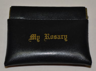Rosary Case, Black, with a Spring Opening
