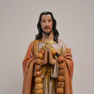 "Sacred Heart of Jesus Rosary Holder - 8.5""H"