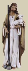 "Jesus, the Good Shepherd, 4"" Tall, by Joseph's Studio"