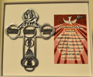 """Gifts of the Holy Spirit Pewter Wall Cross, 5"""""""