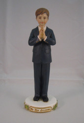 First Holy Communion Young Boy Figurine, by Joseph's Studio
