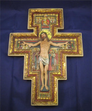 "San Damiano Wall Crucifix, in relief - 10.5"" by Joseph's Studio"