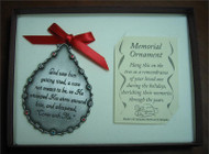 'God Saw Him' memorial ornament