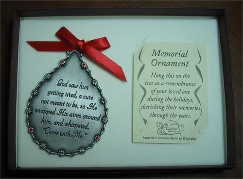 'God Saw Him' memorial ornament
