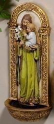 "St. Joseph Holy Water Font, 7"""