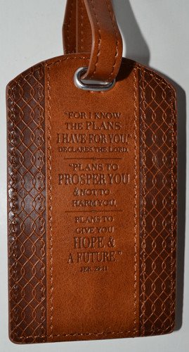 """""""For you know the plans..."""" luggage tag"""