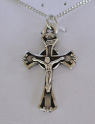 "Pewter 1"" Crucifix pendant"