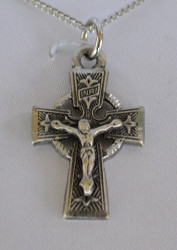 Pewter Celtic Crucifix Necklace from HJ Sherman