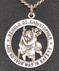 Large Open St. Christopher Medal -1
