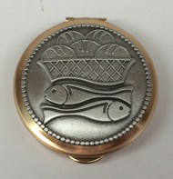 Loaves and Fishes brass pyx