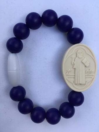 Navy St Ben medal bracelet