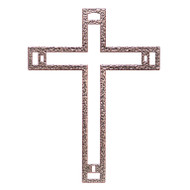 Biblical Steel Nazareth Cross with Nails, 9""