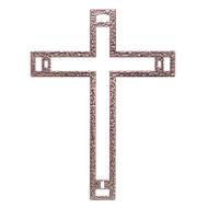 "Biblical Steel Nazareth Cross with Nails, 6"""