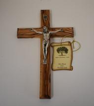 Lg olivewood crucifix w/tag