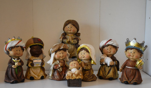 8 pc Kids Nativity