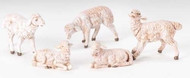 "Fontanini - White Sheep Set of 5, for the 5"" Collection"