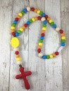 Chews Life Teething Rosary, Rainbow Colored Beads
