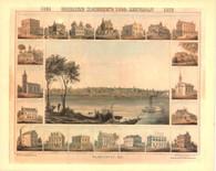 1859 Lithograph of Washington