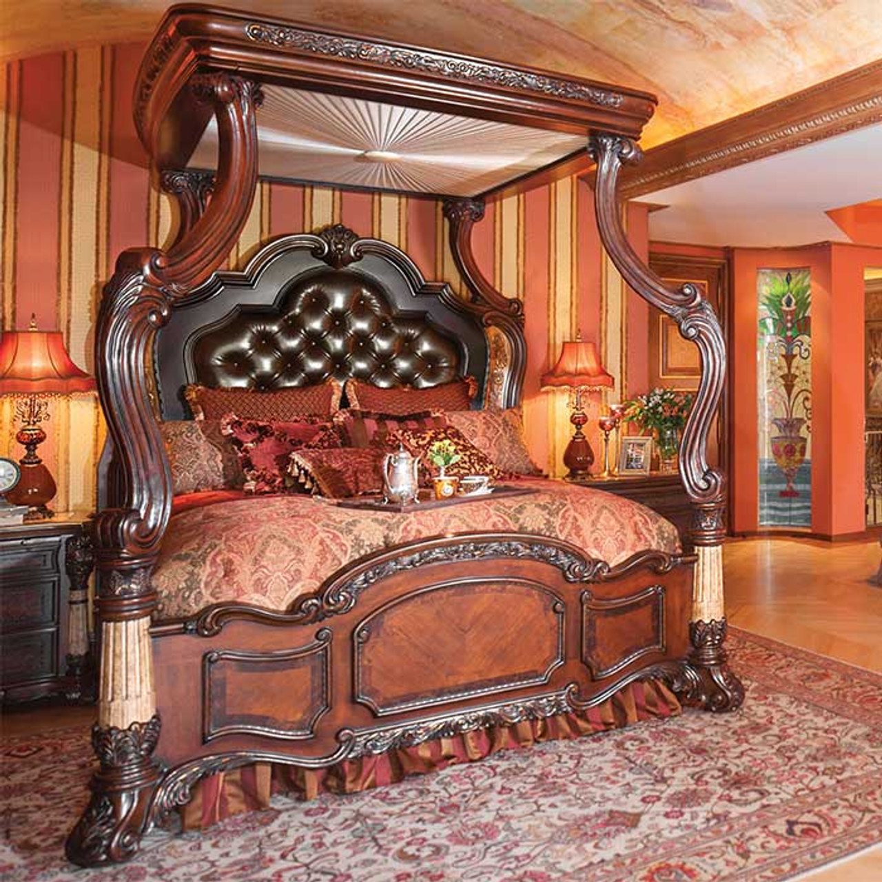 Victoria S Manor King Canopy Bed Magnolia Hall