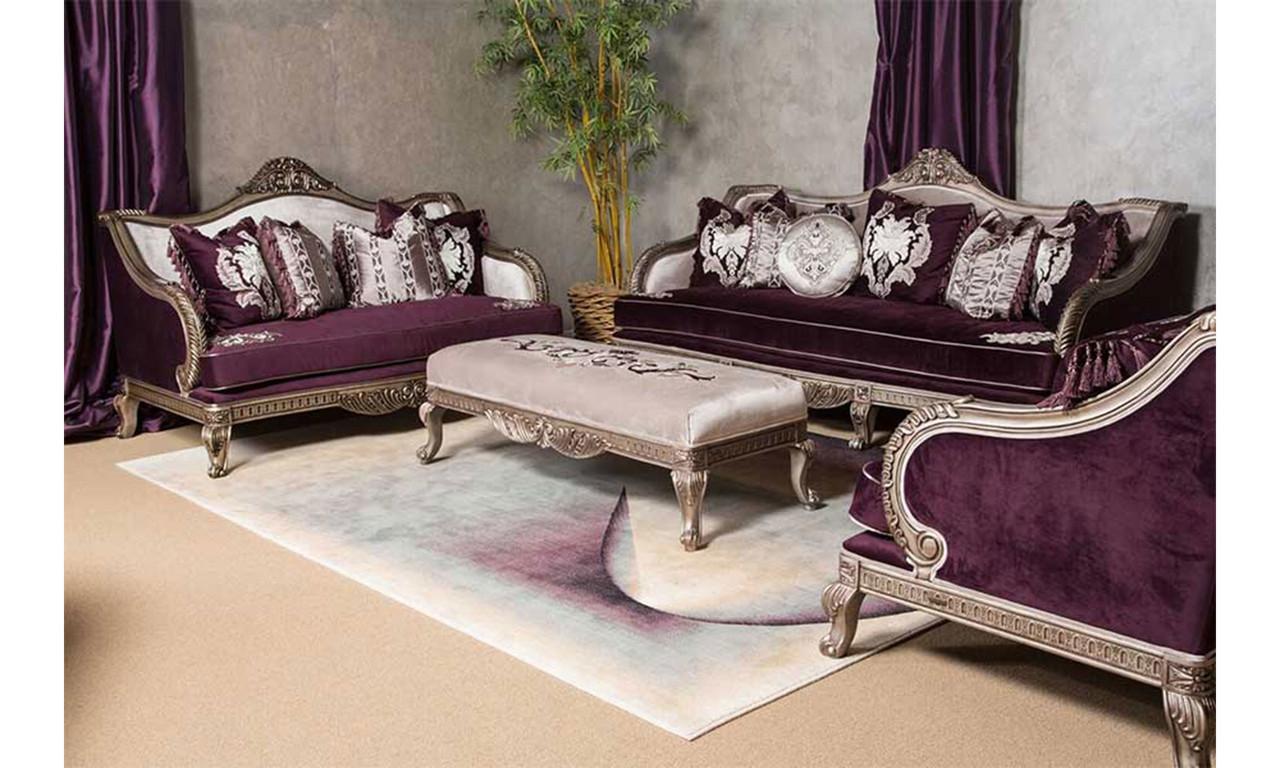Home Living Room Designer Collection Aubergine