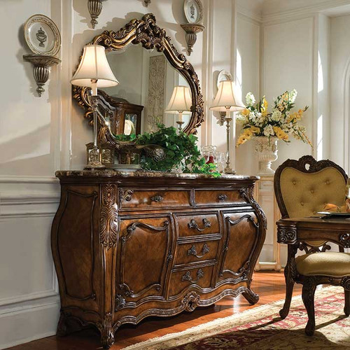 Royal Crest Sideboard and Mirror