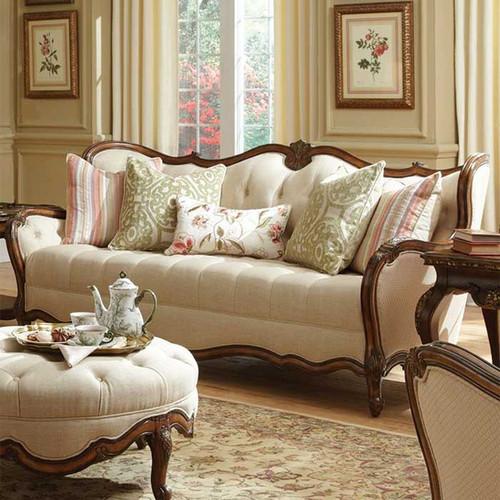 Caravelle Warm Walnut Fabric Sofa