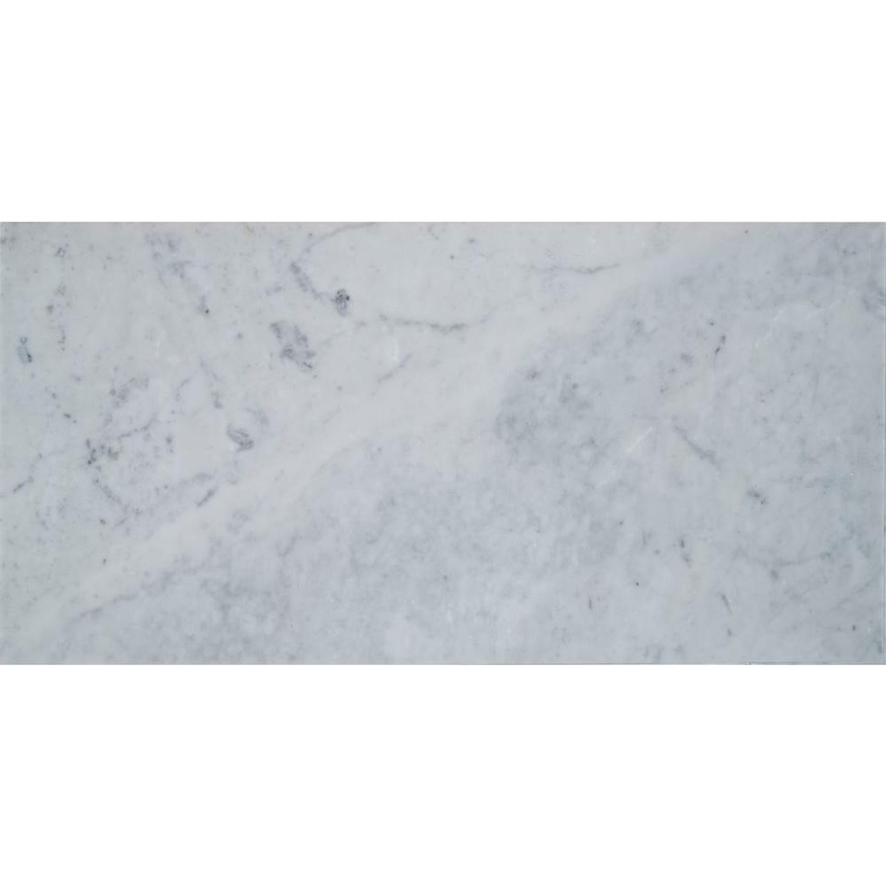 Carrara white 6 in x 12 in polished marble floor and wall tile polished marble floor and wall tile doublecrazyfo Image collections