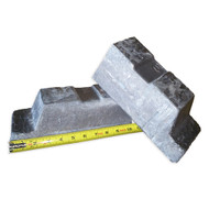 Cut in Half LEAD Pig Ingot 52-55 Pounds-99.9% with Freight Included