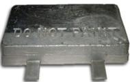 """AHS-20-D Aluminum Anode 2.5"""" x 6"""" x 12"""" - Double Strap"""