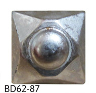 "Square Nail/Clavos Head with Circular Detail - Head Size: 9/16"" Nail Length: 5/8"" - 20/Box"