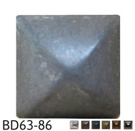"Pewter Square Pyramid Nail/Clavos Head - Head Size: 3/8"" Nail Length: 1/2"" - 20/box"