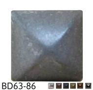 "Square Pyramid Nail/Clavos Head - Head Size: 3/8"" Nail Length: 1/2"" - 80/box"