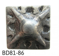 """Square Shaped, Carved Nail/Clavos Head with Star Shaped Detail - Head Size: 3/4"""" Nail Length: 5/8"""" - 20/box"""