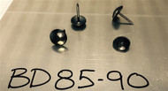 "Black Hammered Pewter Circular Nail/Clavos Head - Head Size: 7/16"" Nail Length: 1/2"" - 100/box"