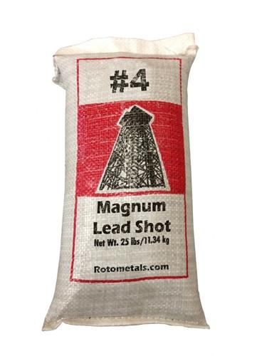 Magnum Lead Shot 4 13 Quot Bag 25 Lbs Rotometals