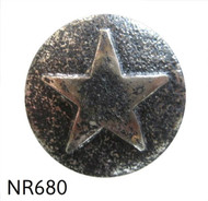 "Nickel Ren. Star Medallion Nail/Clavos Head - Head Size: 7/8"" Nail Length: 3/4"" - 25 per box"