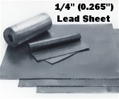"Sheet Lead 1/4"" ~16 lbs./SQ FT 1' x 1'"