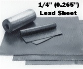 "Sheet Lead 1/4"" ~16 lbs./SQ FT 1' x 2'"