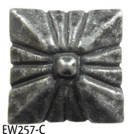"Dark Pewter Square Nail/Clavos Head with Circular Detail  - Head Size: 3/4"" Nail Length: 3/4"" -10/box"
