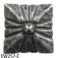 "Square Nail/Clavos Head with Circular Detail  - Head Size: 3/4"" Nail Length: 3/4"" -40/box"