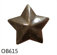 "Old Brass 5 Point Star Nail/Clavos Head - Head Size: 1/2"" Nail Length: 1/2"" -25 per box"