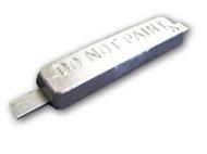 """ZSS-12 Zinc Anode 1.25"""" x 3"""" x 12"""" (16"""" Strap)"""