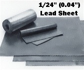 "Sheet Lead 1/24"" ~2.5 lbs./SQ FT 1' x 20 Foot  Lead Flashing Roll"