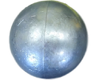 "3.5"" Zinc Cannon Ball Pop Can Mortar"