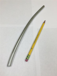 "Zinc Extruded Rods - Price is per Foot 3/8"" Diameter From Coil"